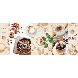 Base decorada boreal cafetero multicor cara única - 30.1x75.3 cm - unidad - Corona