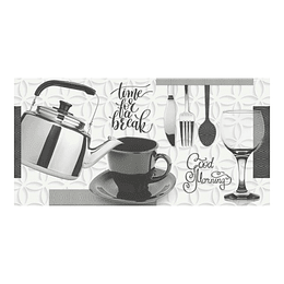 Base decorada brooklyn negro cara única - 30x60 cm - unidad - Corona