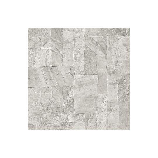 Piso estructurado exterior hacienda gris caras diferenciadas - 60x60 cm - caja: 1.8 m2 - Corona
