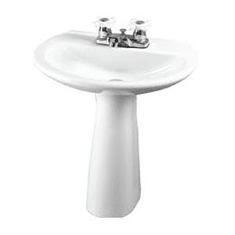 Lavamanos milano blanco con pedestal - Corona