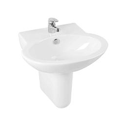 Lavamanos ganamax semipedestal blanco - Corona