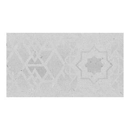 Contrahuella decorada cemento gris cara única - 16.5x30 cm - unidad - Corona