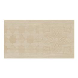 Contrahuella decorada madera beige cara única - 16.5x30 cm - unidad - Corona