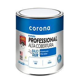 Pintura professional alta cobertura blanco 1/4 - Corona