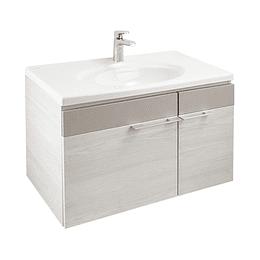 Mueble elipse plus 80 cm con lavamanos - Corona