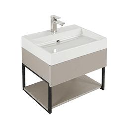 Mueble fussion plus 60 cm con lavamanos color taupe - Corona