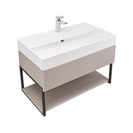 Mueble fussion plus 80 cm con lavamanos color taupe - Corona