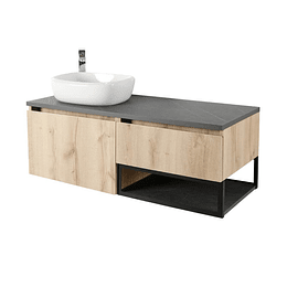 Mueble plus 120 cm con lavamanos cascade izquierdo - Corona