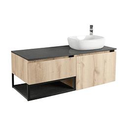 Mueble plus 120 cm con lavamanos cascade derecho - Corona