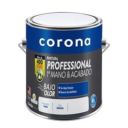 Pintura professional 1 mano y acabado blanca 1/1 - Corona