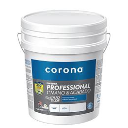 Pintura professional 1 mano y acabado blanca 1/5 - Corona