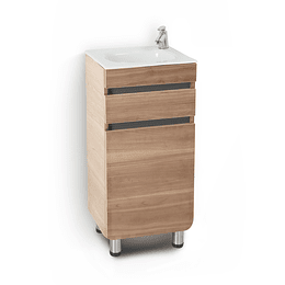 Mueble aluvia miel a piso con lavamanos de 40x35 - Corona