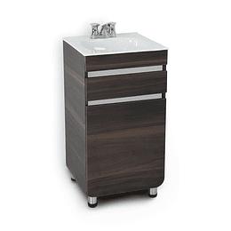 Mueble aluvia habano a piso con lavamanos de 45x45 - Corona
