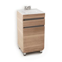 Mueble aluvia miel a piso con lavamanos de 45x45 - Corona