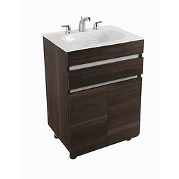 Mueble aluvia habano a piso con lavamanos 60x45 - Corona