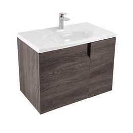 Mueble elipse vital 80 cm con lavamanos - Corona
