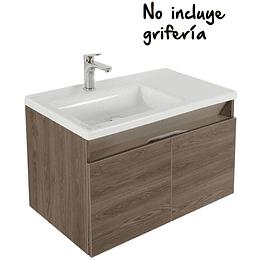 Mueble de baño pontus vital 80 cm con lavamanos - Corona