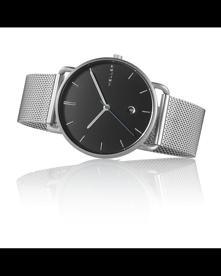Reloj Denka Black Silver
