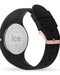 Reloj ICE glitter - Black Rose-Gold - Small - 3H
