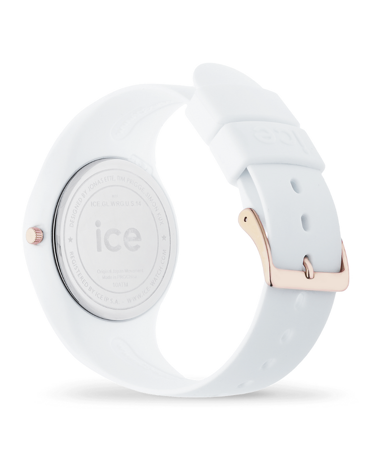 Reloj ICE glam - White Rose-Gold - Small - 3H