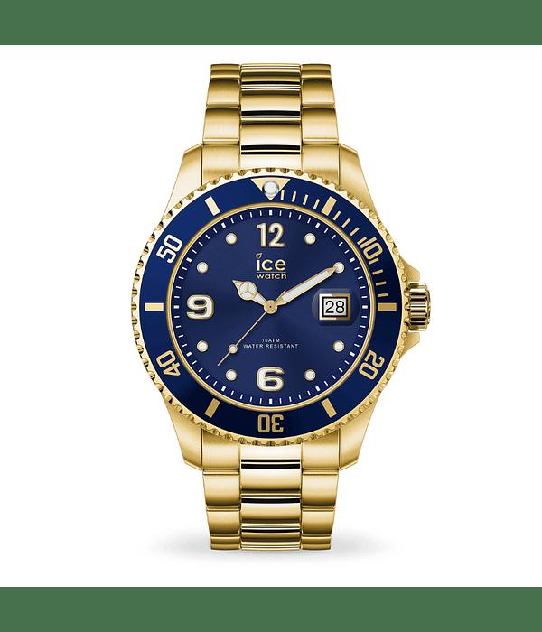 Reloj ICE steel - Gold blue - Large - 3H