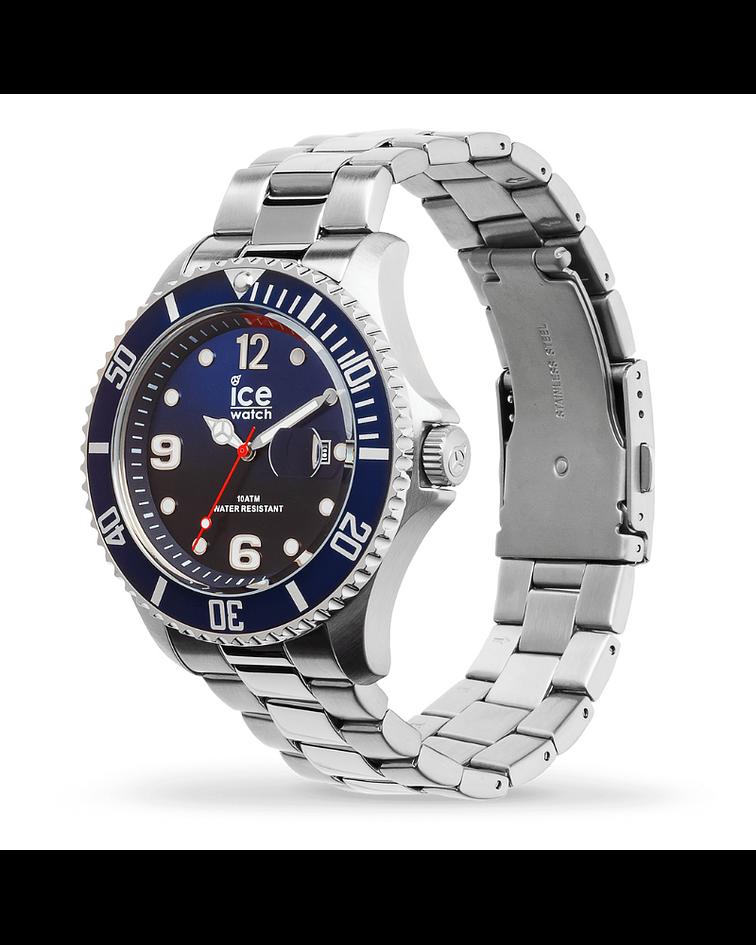 Reloj ICE steel - Marine silver - Large - 3H