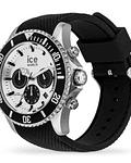 Reloj ICE steel - Black Silver Chrono- Large - CH