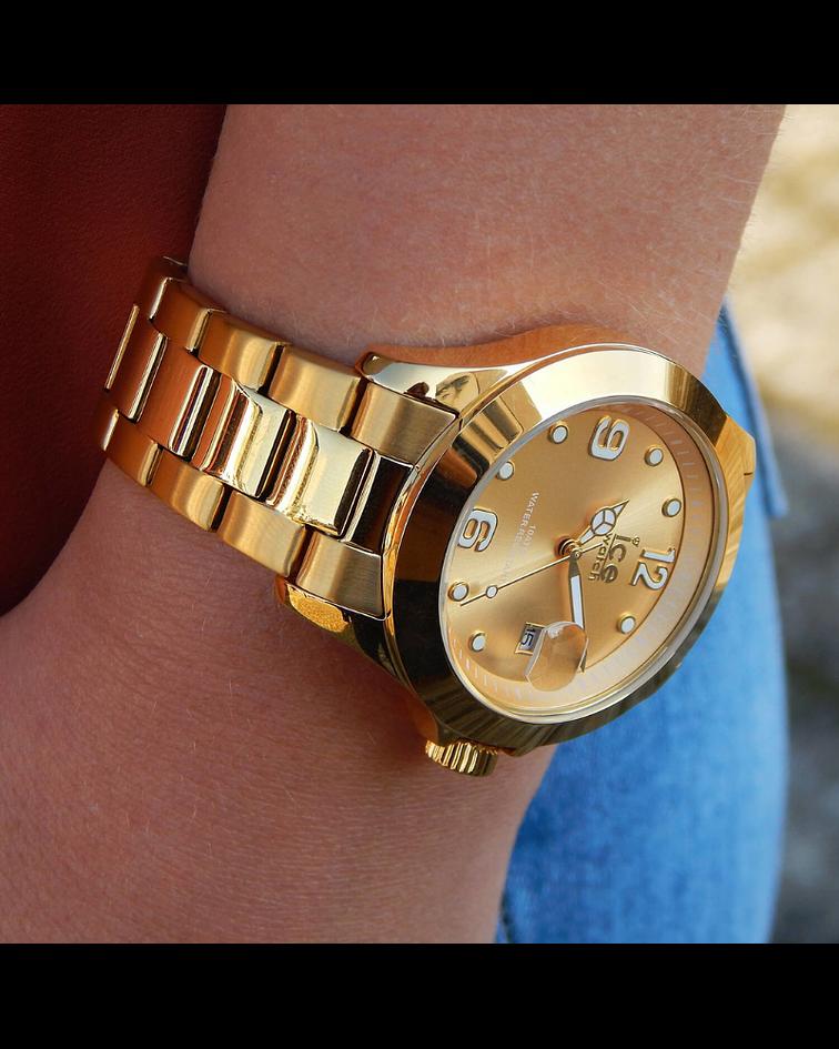 Reloj ICE steel - Classic - Gold - Medium - 3H