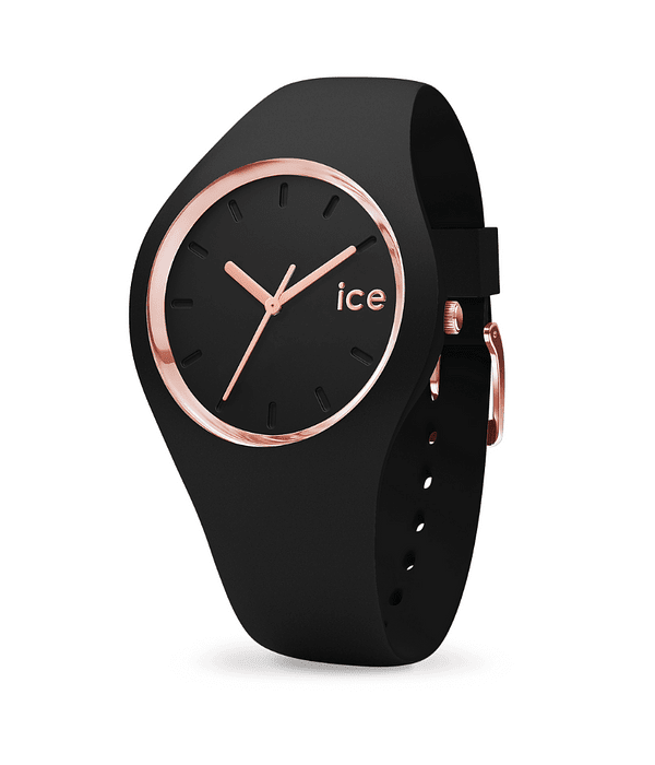 Reloj ICE glam - Black Rose-Gold - Medium - 3H