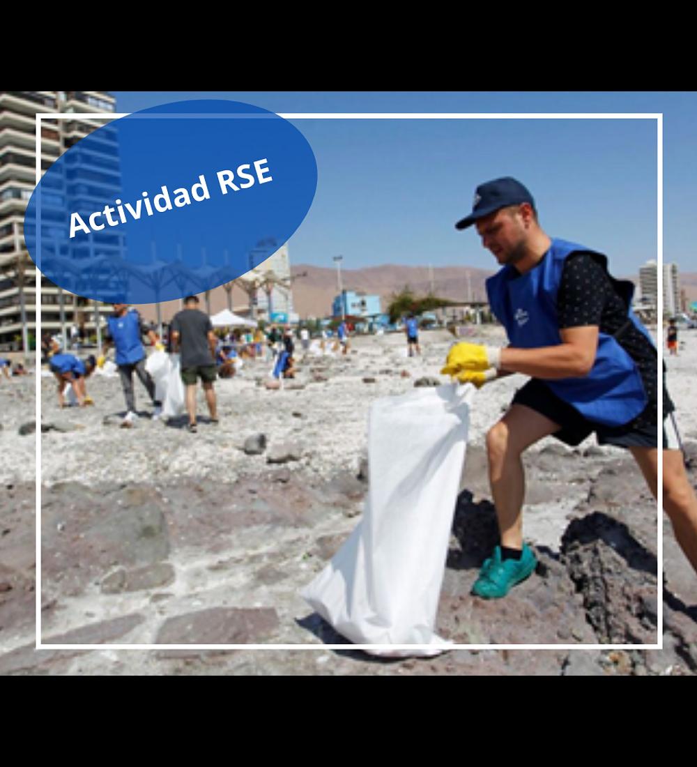 Actividad de limpieza de la playa