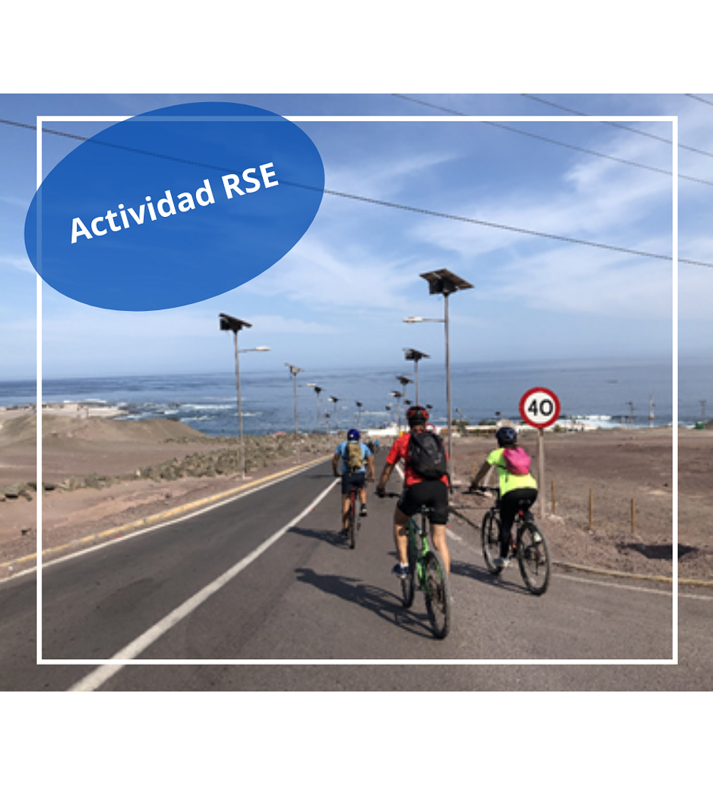 Actividad de Cicletada Playa Blanca