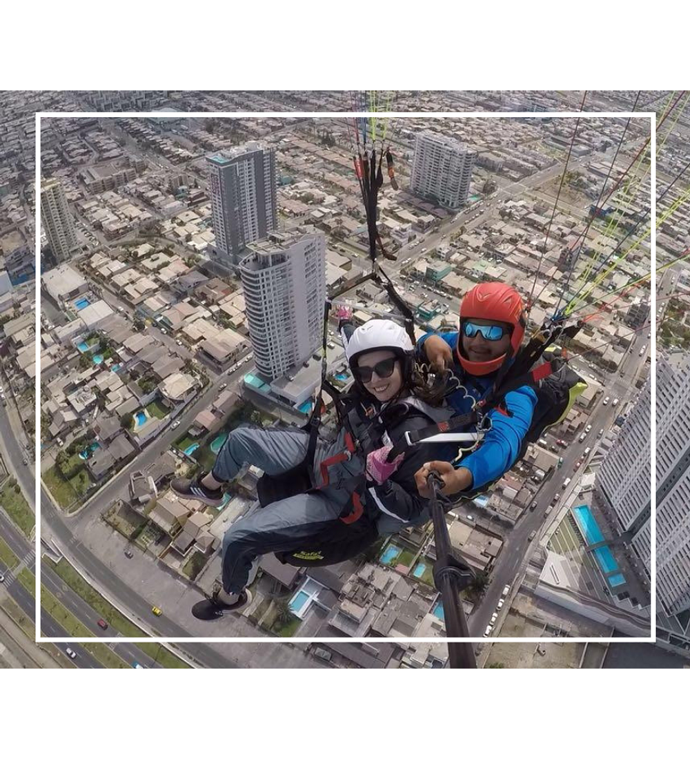 Two-seater flight in Paragliding