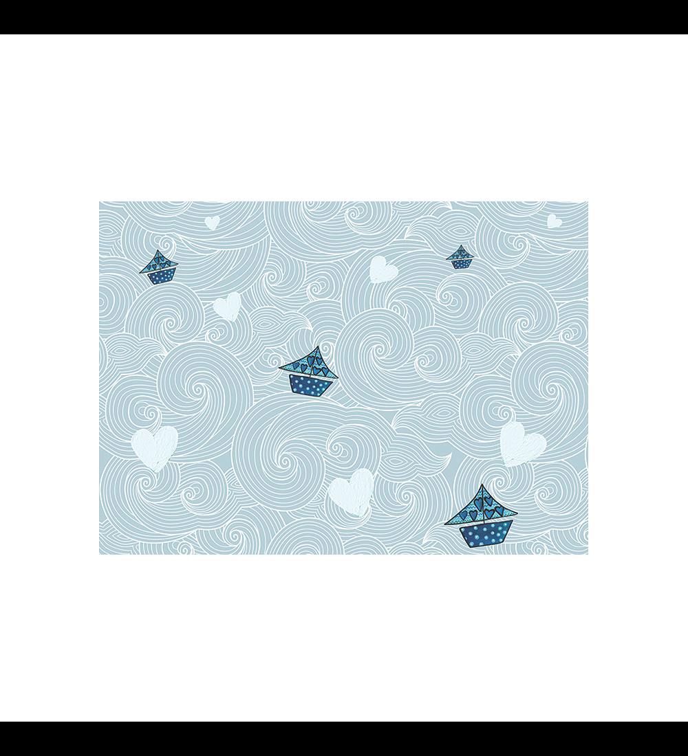 Bote Azul 50 x 70 cm
