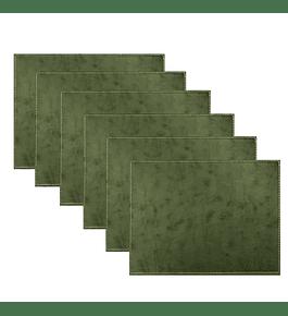 Set 6 Individuales Verde