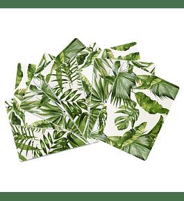 Set 8 Individuales Plantas Rectangular