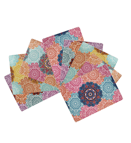 Set 8 Individuales Mandalas Rectangular