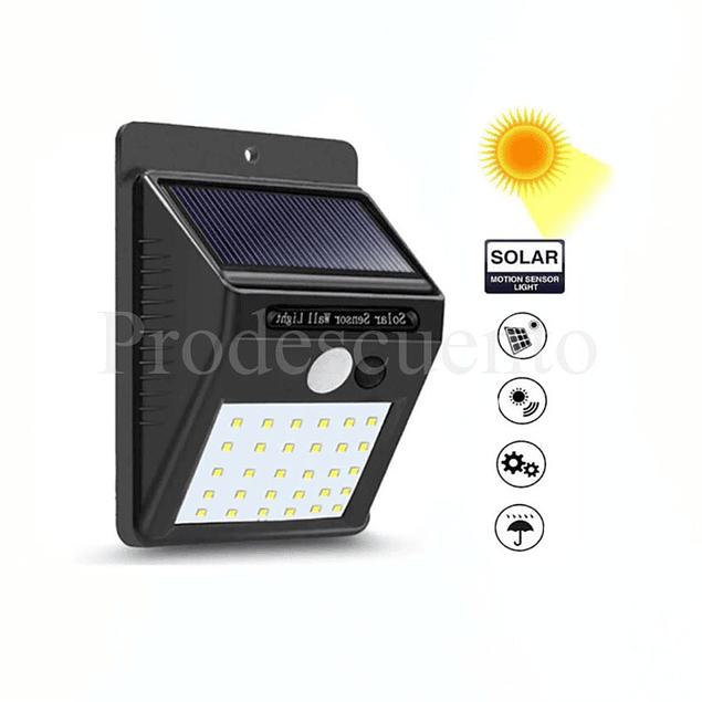 Foco Solar Con Sensor de Movimiento 30 LED