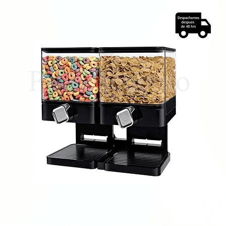 Dispensador De Cereal Doble Cuadrado