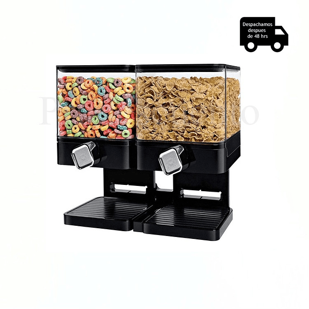 Dispensador De Cereal Doble Cuadrado