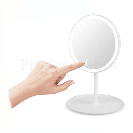 Espejo Con Luz Led Maquillaje Plegable Redondo Recargable
