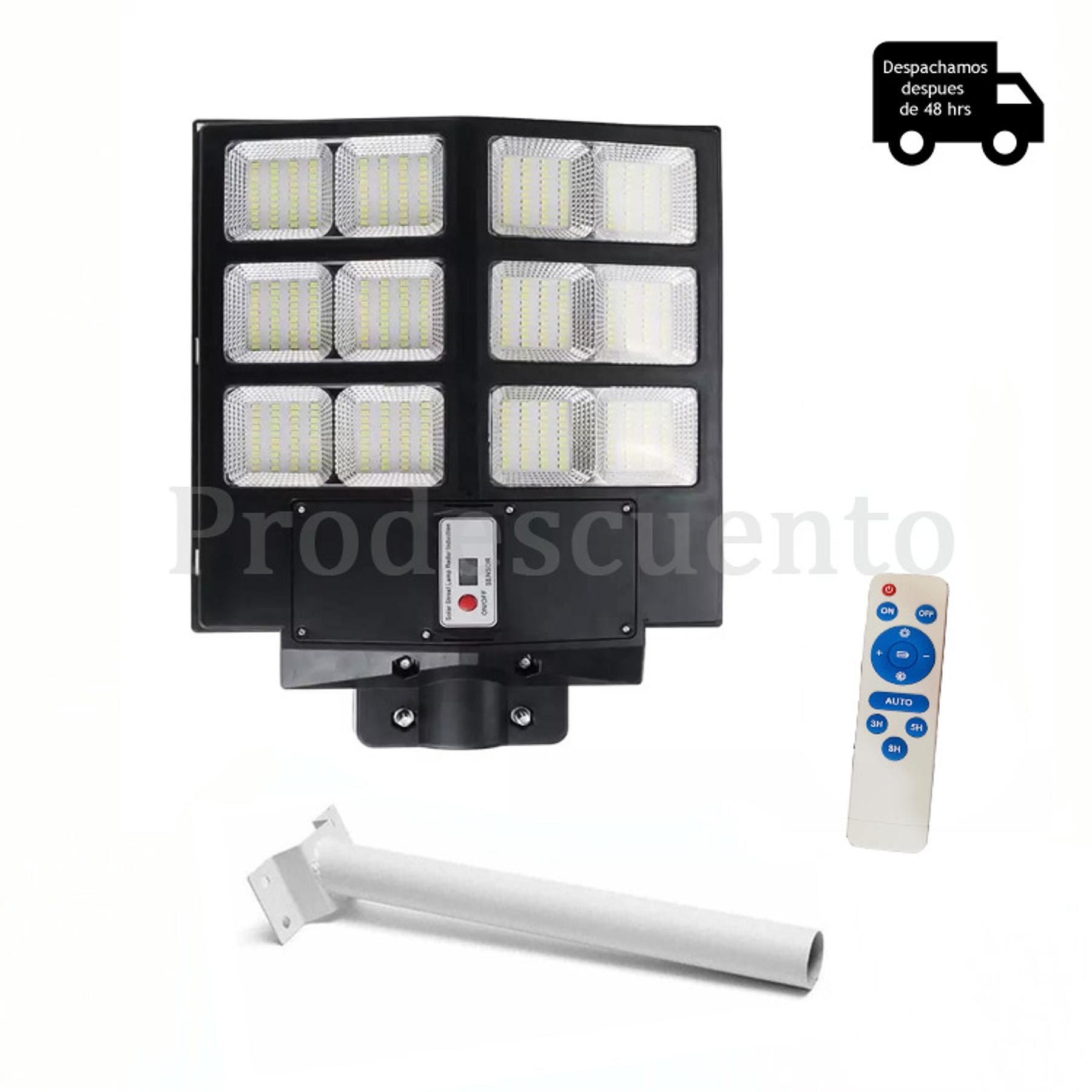 Lampara Solar LED 600w Con Soporte