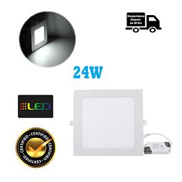 Foco Panel Embutido Cuadrado 24w Luz Fria
