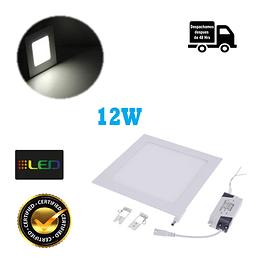Foco Panel Embutido Cuadrado 12w Luz Neutro
