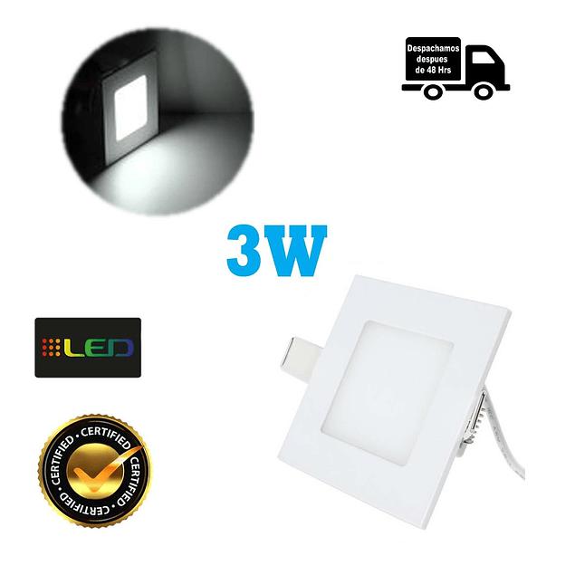 Foco Panel Embutido Cuadrado 3w Luz Fria