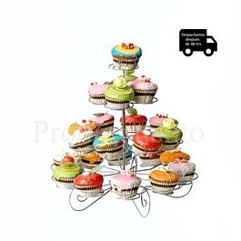 2x stand porta cupcake metalico 23 unidades c/u