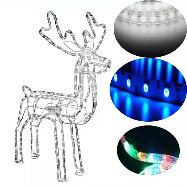 Reno de Navidad Grande con Luces Led y Cabeza Movil