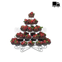 Porta Cupcakes de Metal para 41 unidades