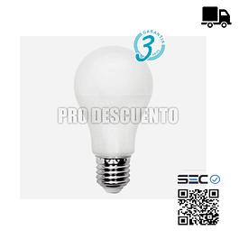 Ampolleta LED 12W Certificada, con Garantía