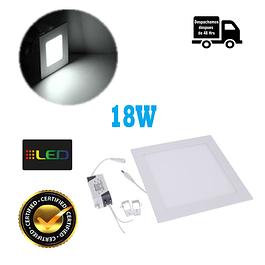 Foco Panel Embutido Cuadrado 18w Luz Fria