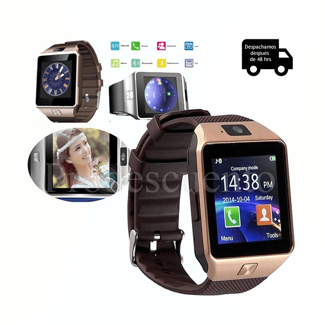 Reloj Inteligente Smartwatch Dz09 Bluetooth Camara
